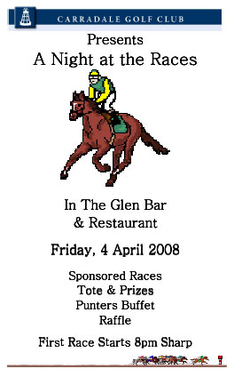 [Race Night in aid of Carradale Golf Club]